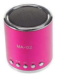MA-02 mini altavoz MP3 con la ranura del TF y ranura de disco U y Radio FM