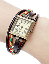 Women's Square Dial Pu Band Quartz Analog Bracelet Watch (Assorted Colors) Cool Watches Unique Watches Fashion Watch