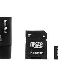 4G Class 4 Ultra microSD TF Card with microSD Adapter and USB Card Reader