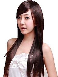 Straight Wig Lovely Long Full Bang Synthetic Wigs Heat Resistant Fiber Cheap Cosplay Party Wig Hair