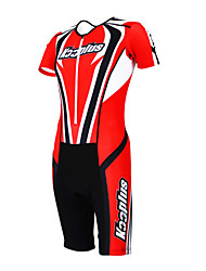 KOOPLUS - Triathlon Red+Black Short Sleeve Wear and Shorts Conjoined Cycling Clothing