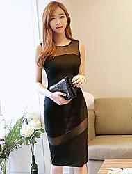 Vestido de malha preto dos Duogelmu Mulheres