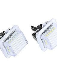 Fout Gratis 18 3528 SMD LED kentekenplaat verlichting Lamp voor Mercedes-Benz W204 W212 W221