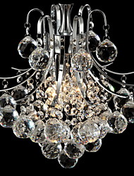 Crystal Chandelier with 3 lights (Chrome Finish)