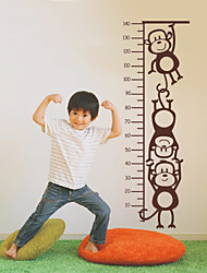Monkey Height Chart Wall Decal Children's Room Or Baby Nursery Vinyl Stickers