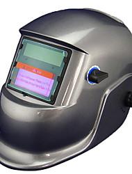 Prata Li Bateria Solar Auto Escurecimento Welding Helmet