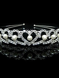 Women's Flower Girl's Rhinestone Imitation Pearl Headpiece-Wedding Headbands