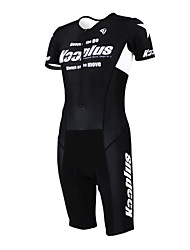 KOOPLUS - Triathlon suit Cycling Clothing Black+White Sleeveless Wear and Shorts Conjoined Cycling Clothing