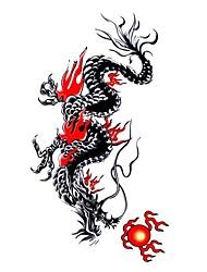 5 Pcs Black Dragon Waterproof Temporary Tattoo(10.5cm*20.5cm)HM465