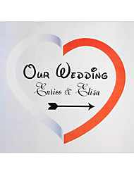 Personalized White&Red Heart Wedding Indicator