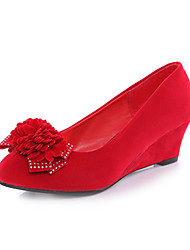 Women's Spring / Summer / Fall Heels Suede Wedding Wedge Heel Red