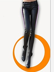 Women's High Waist PU Leather Skinny Pant