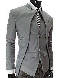 Mode asymétrique Minceur Suit gezi hommes