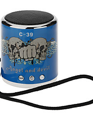 C-39 Mini Speaker Portátil para MP3/PC/PAD