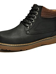 Nubuck Leather Men's Motorcycle Low Heel Hard Wearing Ankle Boot