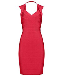 Hot Selling Sweetheart Neckline Open Back Sexy Slim Bandage Dress