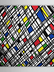 lona estirada arte arte pop algunas formas geométricas al azar listo para colgar