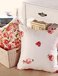 """16 """"Square Floral Pillow Con inserto"""