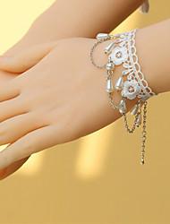 Patrón de flores de encaje Sweet Lolita Pulsera con perlas