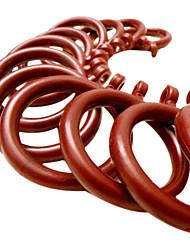 Wine Red Engineering Plastics Durable Curtain Clip Ring (Diameter 3.5cm)