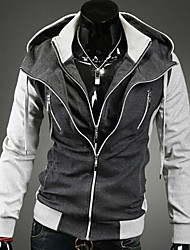 Men's Fashion Casual Long sleeve Mixed Colors Hoody Jacket