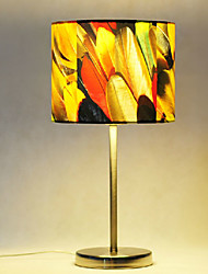 Table Lamps, 1 Light, Modern Creative Stainless Steel Fabric Painting