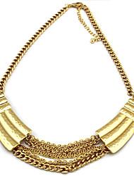 Collar elegante-Craft agraciada Punk Metal Slice