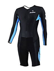 KOOPLUS - Triathlon Black Long Sleeve Wear and Shorts Conjoined Cycling Clothing