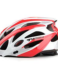 LUA Ciclismo Branco e vermelho PC / EPS 21 Vents Protective passeio Helmet