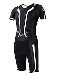 Kooplus Tri Suit Women's Men's Unisex Short Sleeve Bike Breathable Quick Dry Moisture Permeability Wearable Coveralls Clothing Sets/Suits