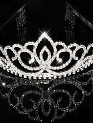 Nupcial do casamento Prom Pageant Princesa Cristal Tiara Crown Headband