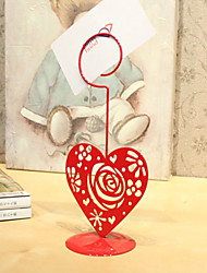Place Cards and Holders Red Cut-out Rose Design Metal Placecard Holder