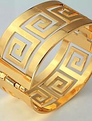 u7® 60mm hombres o 18k de oro real de las mujeres de la vendimia pulseras plateadas g carta brazaletes brazalete brazalete