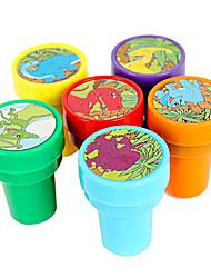 Dinosaur Muster Toy Seal Set (6 Stück)