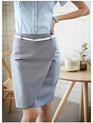 Women's Spring Fashion Skirt With Skinny Belt