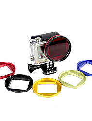 2014 Professional Professional Dive Housing 52mm Lens Adapter + Red Filter for Gopro Hero3+