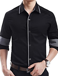 Men's Slim Cotton Long Sleeve Shirt