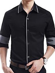 algodão fino camisa de manga longa para homens