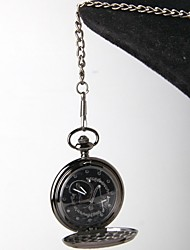 Unisex Harry Potter Silver Black Pocket Watch