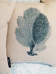 Coussin décoratif gracieux Coral Motif avec insert