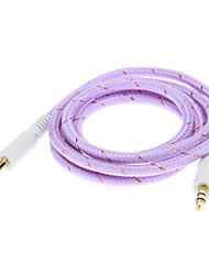 Câble de branchement audio Jack(1.0m Violet)