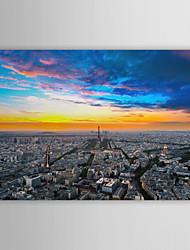 Натянутым холстом печати Искусство Ландшафтный вид Эйфелевой башни, Франция (4)