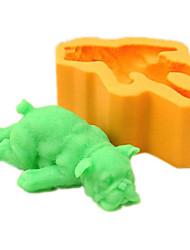 Chiot de sommeil Fondant silicone moule à cake