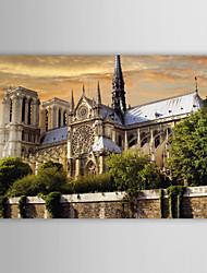 Натянутым холстом печати Искусство Пейзаж Горбун из Нотр-Дама во Франции
