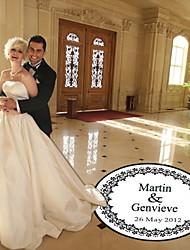 decoração de casamento personalizado flor rodada piso padrão dança decalque (mais cores)