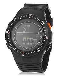 Multi-fonctionnel cadran numérique des hommes Rubber Band Wrist Watch