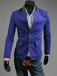 REVERIE UOMO Men's Double Button Blue Suit