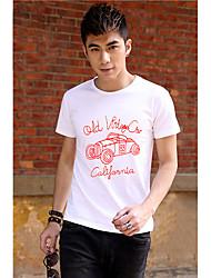 Men's Cartoon Car Print T Shirt