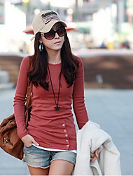 Women's T-Shirts , Cotton Blend Casual CoolCube
