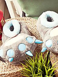 Deslize Garra do dinossauro dos desenhos animados cor sólida Mulheres Lã de Chinelo - 2 Cores disponíveis